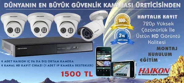 Haikon 4 Kameralı Sistem Kampanyası